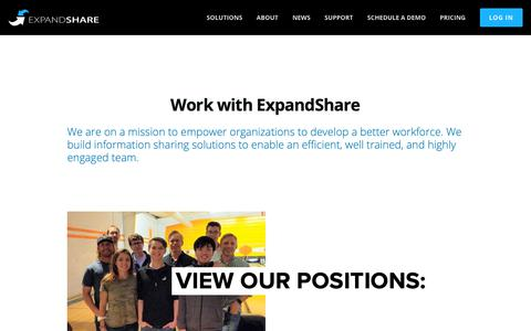 Screenshot of Jobs Page expandshare.com - Careers at ExpandShare - captured March 16, 2019