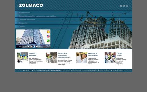 Screenshot of Home Page zolmaco.com.ar - - Zolmaco - - captured Oct. 6, 2014