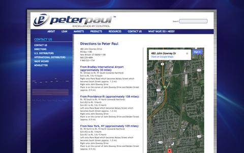 Screenshot of Maps & Directions Page peterpaul.com - Peter Paul Electronics  Directions to Peter Paul - captured Oct. 2, 2014