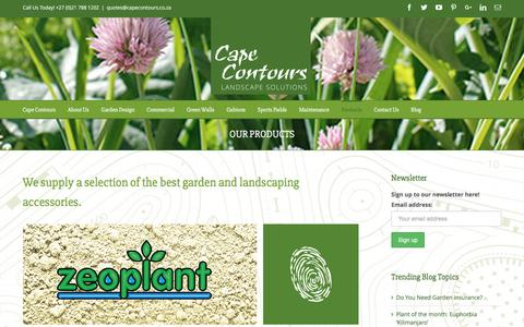 Screenshot of Products Page capecontours.co.za - Products | Cape Contours - captured Jan. 24, 2016