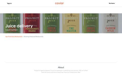 Juice delivery | Caviar