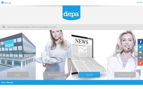 Screenshot of Press Page depa.nl - Nieuws - Depa - Packaging & disposables - captured Nov. 3, 2014