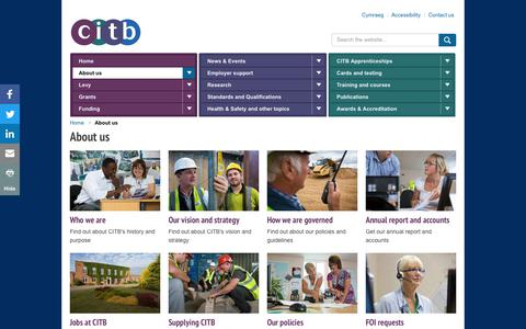 Screenshot of About Page citb.co.uk - About us - CITB - captured Nov. 27, 2017