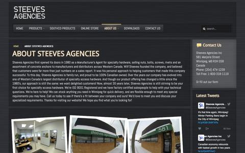 Screenshot of About Page steevesagencies.com - Steeves Agencies About Steeves Agencies - Steeves Agencies - captured Dec. 12, 2016