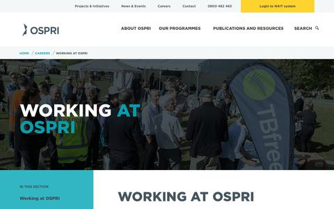 Screenshot of Jobs Page ospri.co.nz - Working at OSPRI | OSPRI - captured Feb. 21, 2018