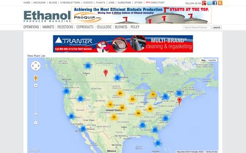 Screenshot of Maps & Directions Page ethanolproducer.com - Ethanol Producer Magazine – The Latest News and Data About Ethanol Production - captured Nov. 3, 2014