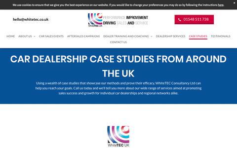 Screenshot of Case Studies Page whitetec.co.uk - Case Studies   UK   WhiteTEC Consultancy Ltd - captured Aug. 9, 2019