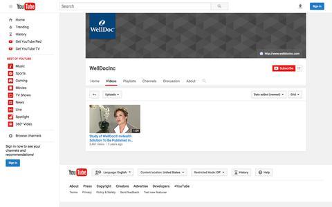 WellDocInc  - YouTube