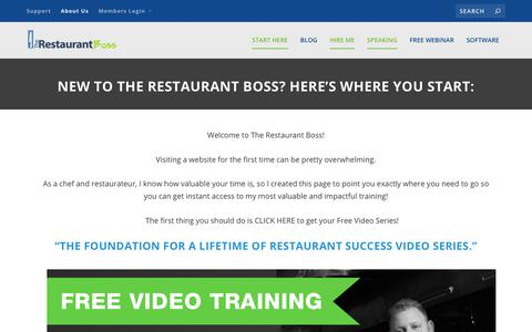 Screenshot of About Page therestaurantboss.com - Start Here - The Restaurant Boss - captured Oct. 29, 2017