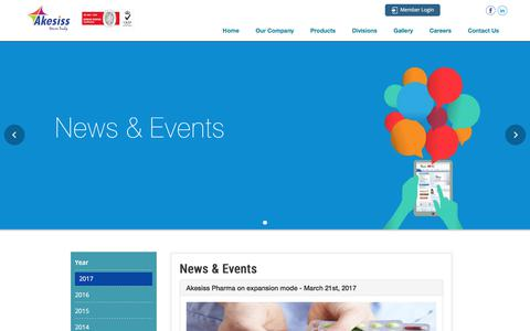 Screenshot of Press Page akesissindia.com - Akesis - captured Sept. 25, 2018