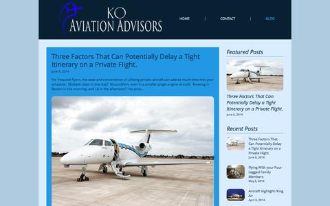 Screenshot of Blog koaviation.com - koaviation | BLOG - captured Oct. 16, 2017
