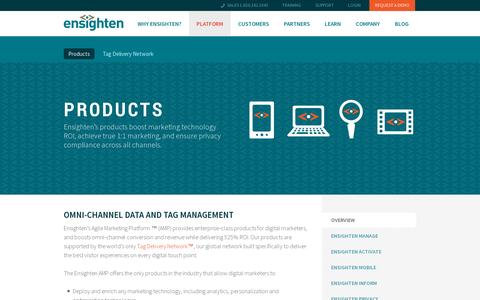 Screenshot of Products Page ensighten.com - Ensighten | Tag Management Products - captured July 19, 2014