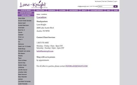 Screenshot of Locations Page laneknight.com - Locations   Lane-Knight - captured Sept. 10, 2016