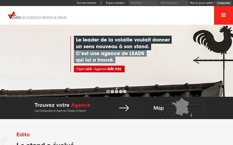 Screenshot of Home Page leads-france.com - LEADS - Les Agences Design & Stand - captured Oct. 23, 2018