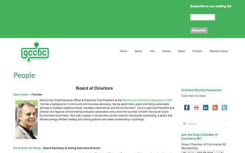 Screenshot of Team Page greenchamberofcommercebc.org - People | Green Chamber of Commerce BC - captured Sept. 30, 2014