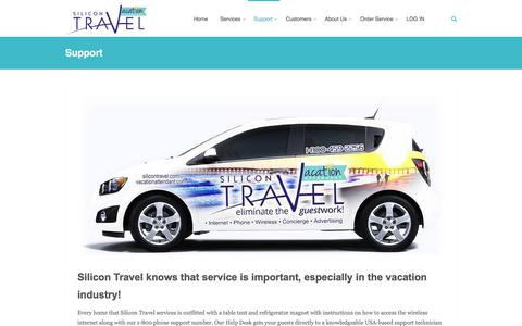 Screenshot of Support Page silicontravel.com - Support | Silicon Travel - captured Sept. 21, 2018