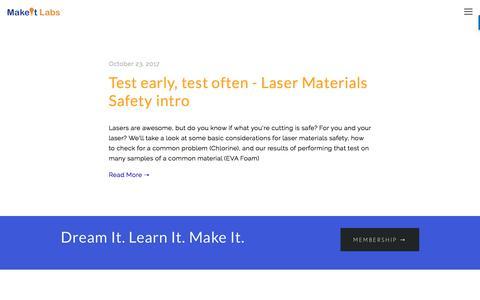 Screenshot of Blog makeitlabs.com - Blog — MakeIt Labs - captured Sept. 23, 2018