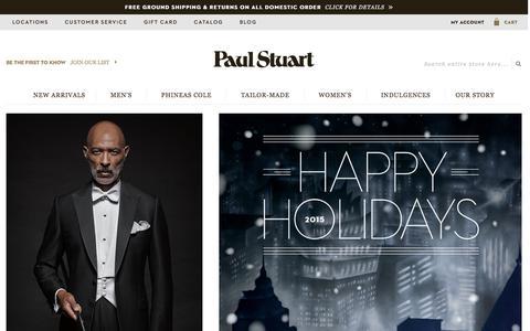 Screenshot of Home Page paulstuart.com - Paul Stuart - Fine Men's & Women's clothing - captured Dec. 3, 2015