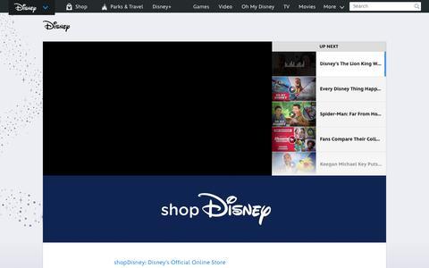 Screenshot of Home Page go.com - Go.com | The Walt Disney Company - captured July 19, 2019