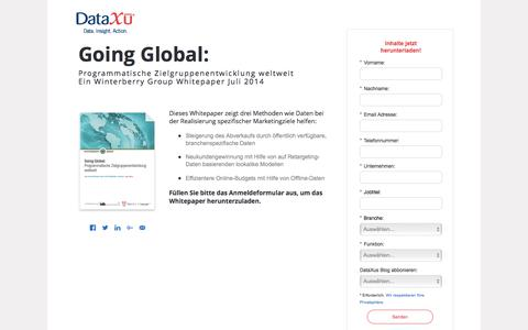 Screenshot of Landing Page dataxu.com - Winterberry Going Global: Programmatische Zielgruppenentwicklung weltweit - captured June 8, 2017