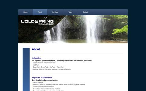 Screenshot of About Page coldspring.ca - About - ColdSpring Commerce - captured Oct. 3, 2014
