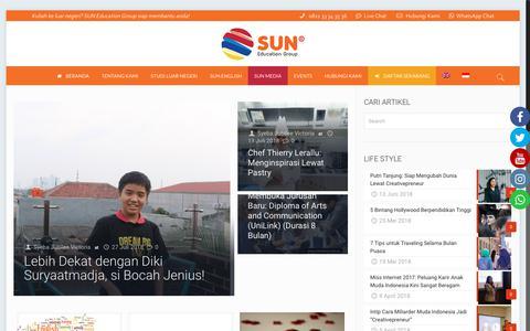 Screenshot of Press Page suneducationgroup.com - News Events - captured Sept. 30, 2018