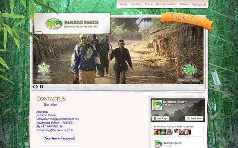Screenshot of Contact Page bambooranch.in - Contact Us | Bamboo Ranch - captured Dec. 29, 2015