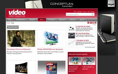 Screenshot of Press Page video-magazin.de - Video News - video-Magazin - captured Oct. 31, 2014