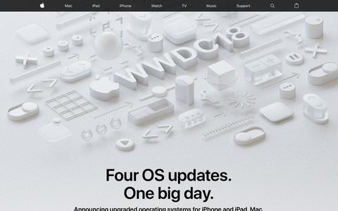Screenshot of Home Page apple.com - Apple - captured June 4, 2018