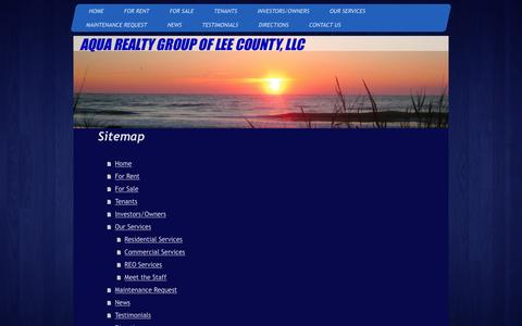 Screenshot of Site Map Page aquarealtygroup.com - Aqua Realty Group LLC - Home - captured Dec. 26, 2015