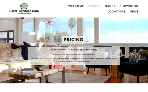 Screenshot Of Pricing Page Usedfurniture.guru   Pricing U2014 Used Furniture  Guru   Captured Oct