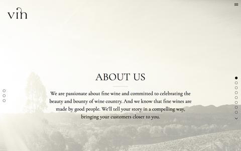 Screenshot of About Page vinagency.com - About   Vin – Fine Brand Design for the Wine World - captured Oct. 27, 2017
