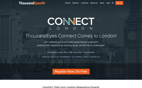 ThousandEyes Connect - London - March 21, 2018