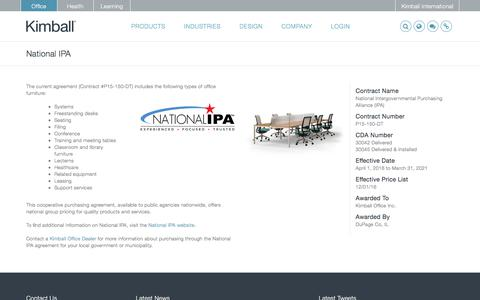 Screenshot of kimball.com - National IPA - Kimball - captured Sept. 6, 2017