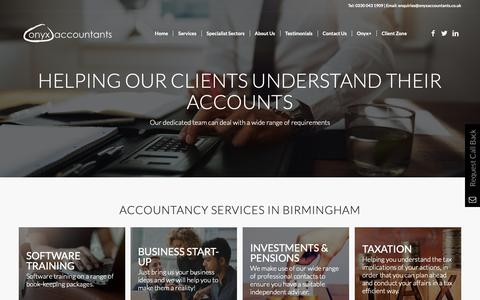 Screenshot of Services Page onyx.accountants - Services - Onyx Accountants - captured Oct. 20, 2018