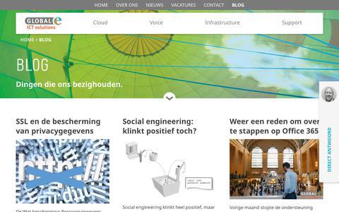 Screenshot of Blog global-e.nl - Archief Blog - global-e.nl - captured Aug. 15, 2017