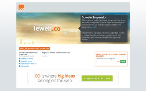 leweb.co - domain expired