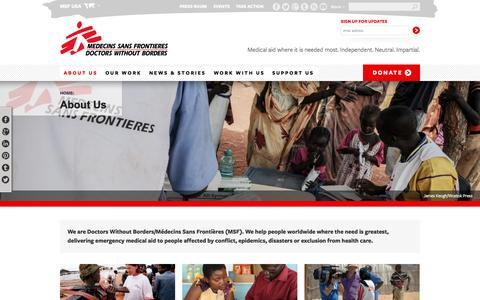 About Us | MSF USA