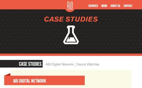 Screenshot of Case Studies Page riocreative.com - Case Studies - Rio Creative | Rio Creative - captured Oct. 7, 2014