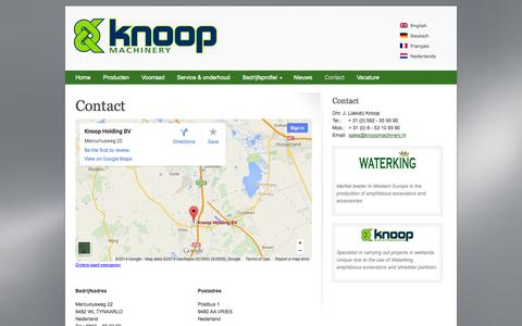 Screenshot of Contact Page knoopmachinery.nl - Contact Knoop Machinery BV - captured Oct. 6, 2014
