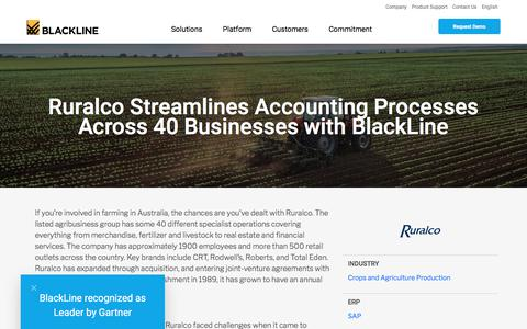 Screenshot of Case Studies Page blackline.com - Ruralco - captured Nov. 29, 2019