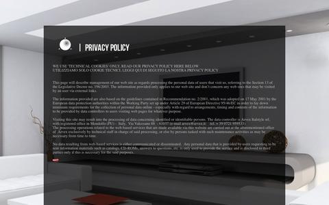Screenshot of Privacy Page arvexmosaic.com - privacy - captured Dec. 23, 2015