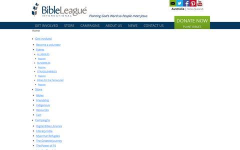 Screenshot of Site Map Page bl.org.au - Site Map - Bible League Australia - captured Oct. 5, 2014