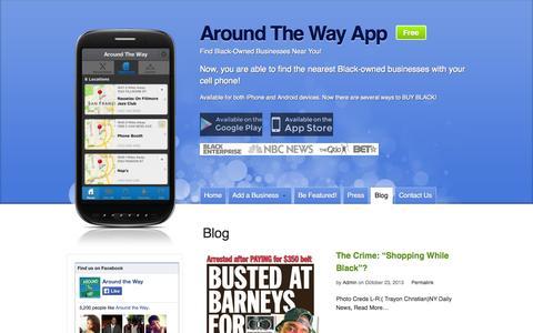 Screenshot of Blog aroundthewayapp.com - Blog - captured Sept. 30, 2014