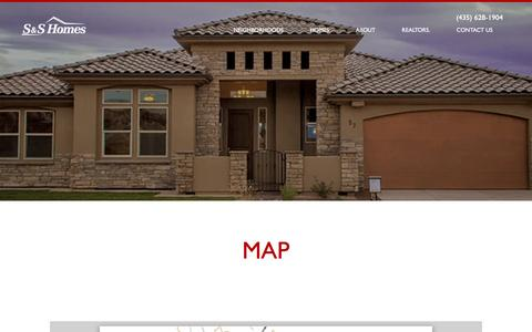 Screenshot of Maps & Directions Page sshomes.info - Map | S&S Homes - captured May 24, 2017