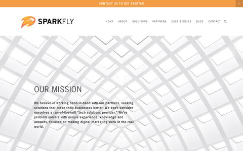 Screenshot of About Page sparkfly.com - About — Sparkfly - captured July 13, 2018