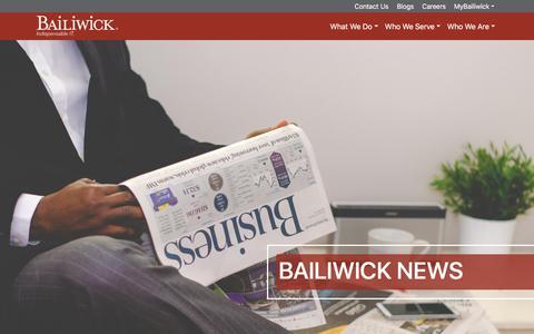 Screenshot of Press Page bailiwick.com - Bailiwick News - Bailiwick - captured Aug. 1, 2018