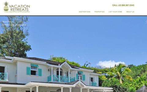 Screenshot of Home Page vretreats.com - Vacation Retreats luxury rentals - captured Oct. 6, 2014
