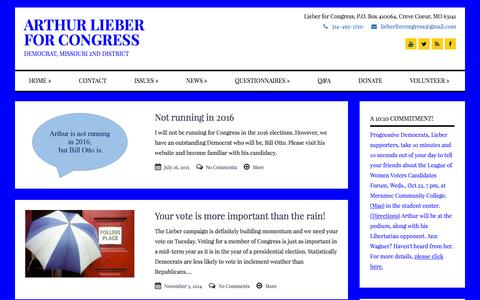 Screenshot of Press Page lieberforcongress.com - Arthur Lieber | Arthur Lieber for Congress - captured June 21, 2016