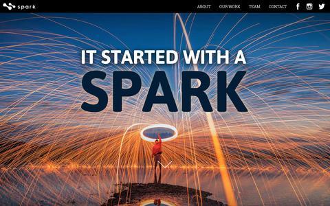 Screenshot of Home Page sparkdesign.com - Spark | Fuel For Your Brand - captured Dec. 1, 2016